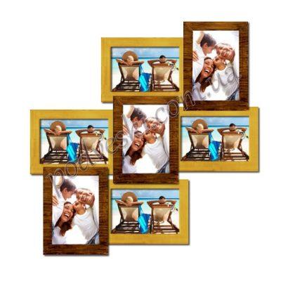 Фоторамка деревянная «Тоскана» 7 фото (двойное золото)