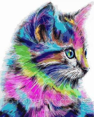 Картина для рисования DIY Babylon «Радужный котенок»