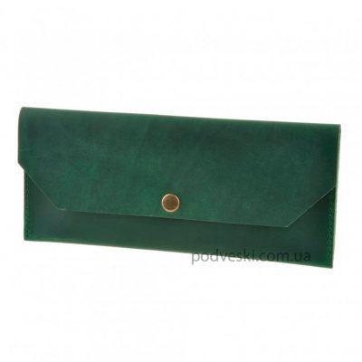 Клатч-конверт кожаный BlankNote «Изумруд»