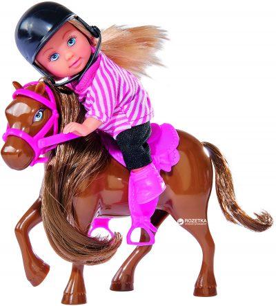 Кукольный набор Эви и пони Simba Brown