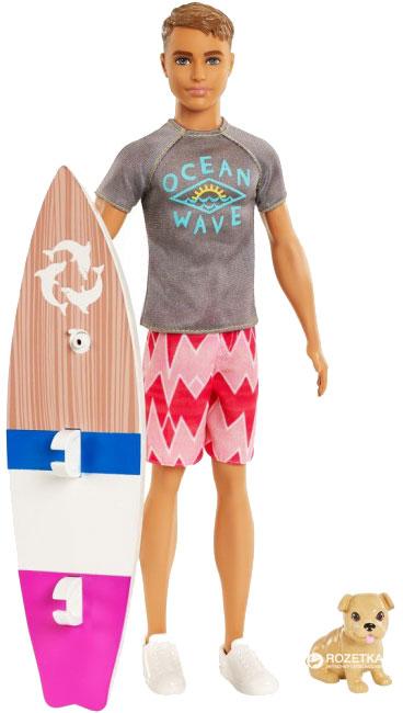 Набор Barbie Серфер Кен с любимцем из м/ф «Барби: Магия дельфинов» (FBD71)