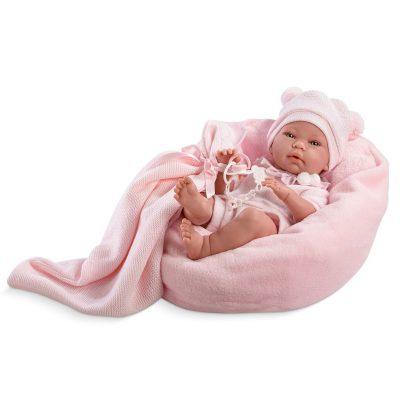 Кукла-младенец Llorens «Ника» с пледом на подушке