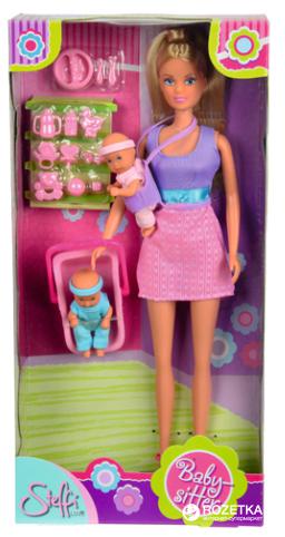 Кукла Simba Штеффи «Няня» розовая