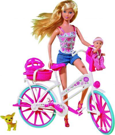 Кукла Штеффи с малышом на велосипеде Simba «Steffi Love»