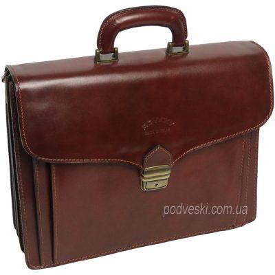Портфель кожаный ТМ Rovicky (темно-коричневый)