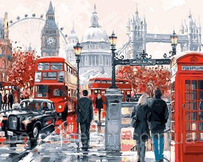 Раскраска по цифрам DIY Babylon «Очарование Лондона» Худ МакНейл Ричард