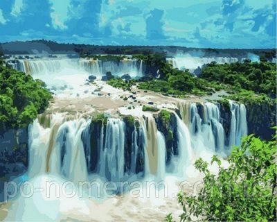 Рисование по номерам DIY Babylon «Водопады Игуасу. Бразилия»