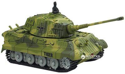 Танк микро на р/у Great Wall Toys «King Tiger» 1:72 со звуком