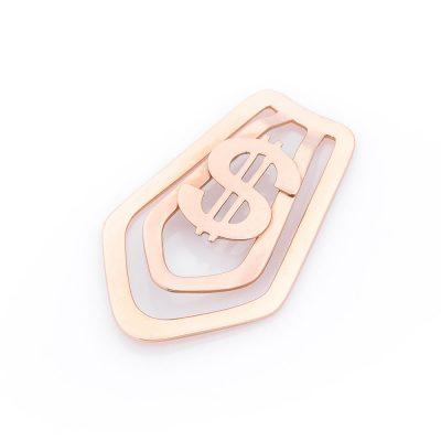 Золотой зажим для денег «$»