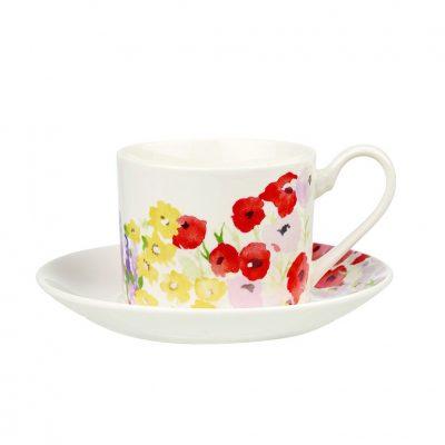Чашка с блюдцем Churchill «Цветочный сад»