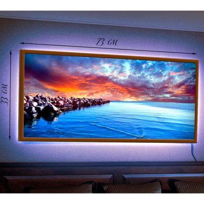 Картина-светильник в рамке «Фантастический рассвет»