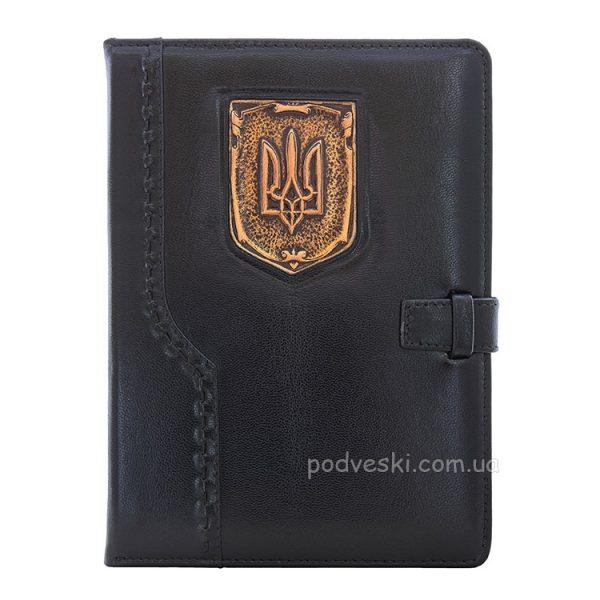 Кожаный ежедневник «Герб Украины»