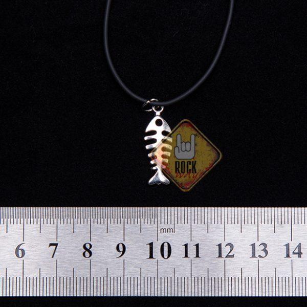 Кулон «Скелет рыбы»