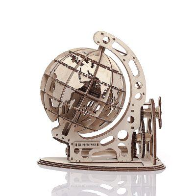 Механический конструктор из дерева «Глобус»
