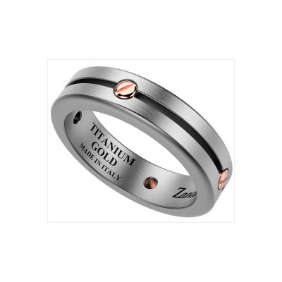 Мужское кольцо ZANCAN (золото, титан)