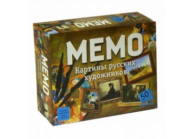 Настольная игра «МЕМО. Картины русских художников»