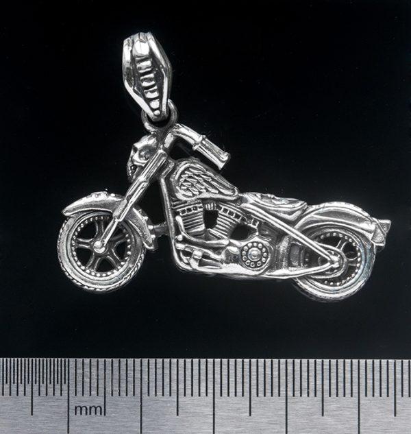 Серебряный кулон «Мотоцикл»
