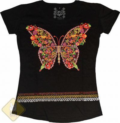 Женская футболка «Узор №3» (бабочка)