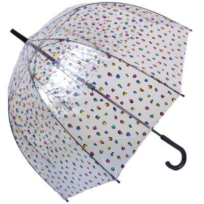 Зонт-трость женский механический FULTON (Candy-Leopard)
