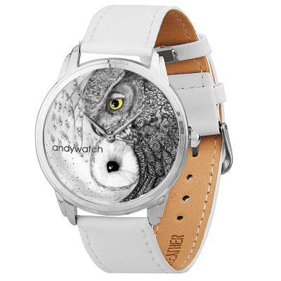 Оригинальные наручные часы AndyWatch «Совы инь-янь»