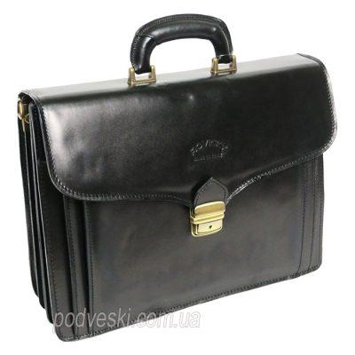 Портфель кожаный Rovicky черный