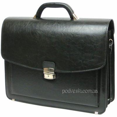 Портфель мужской Jurom (черный кожзам)