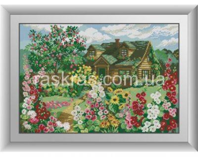 Алмазная мозаика Dream Art «Домик в цвету»