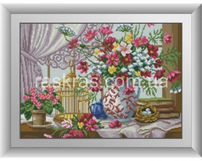 Алмазная мозаика Dream Art «На подоконнике»