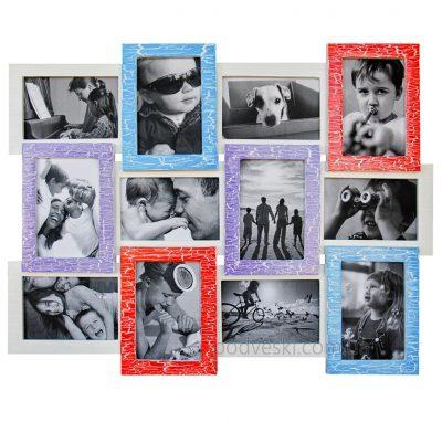 Фоторамка «Цветная радость» на 12 фото