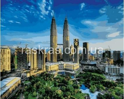 Картина раскраска «Башни Петронас. Малайзия» Турбо