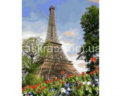 Картина раскраска «Цветы весеннего Парижа» Турбо