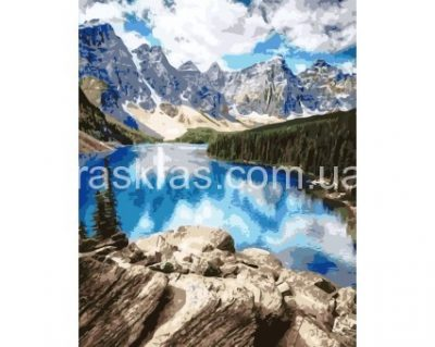 Картина-раскраска «Горное озеро» ArtStory