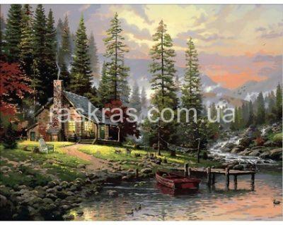 Картина-раскраска «Охотничий домик» Mariposa
