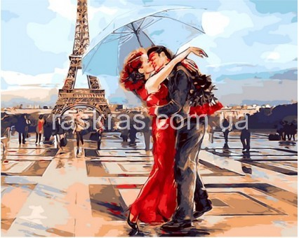 Картина-раскраска «Париж - город влюбленных» Mariposa