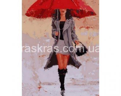 Картина раскраска «Под красным зонтом» Турбо