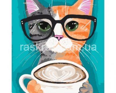 Картина раскраска «За чашкой латте» Идейка