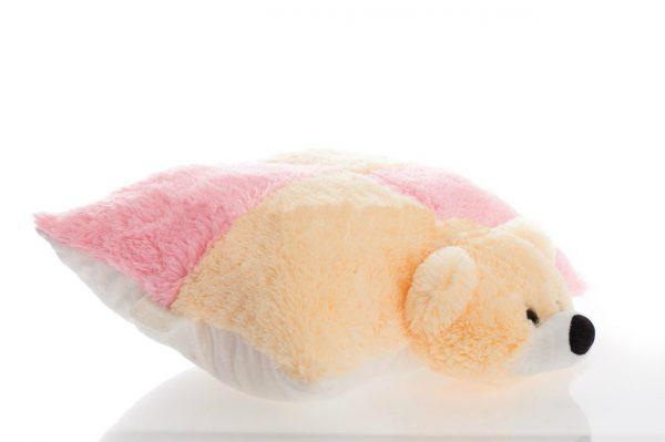 Подушка-игрушка мишка персиковый ТМ «Алина»