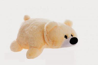 Подушка-игрушка «Мишка» (55 см персиковая)