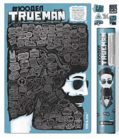 Скретч-постер «#100 ДЕЛ TrueMan Edition» в тубусе (русский)