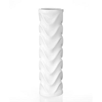 Ваза керамическая белая Eterna «Волна»