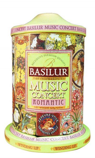 Чай зелёный листовой Basilur подарочная музыкальная шкатулка «Романтика»