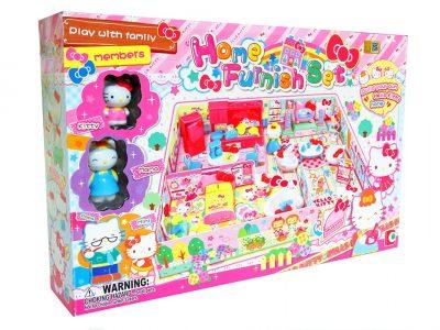 Игровой домик Хелло Китти с мебелью Hello Kitty