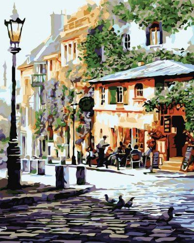 Картина по номерам «Италия. Летнее кафе» (в коробке)