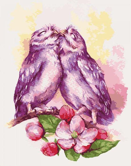 Картина по номерам «Нежность совушек» Идейка