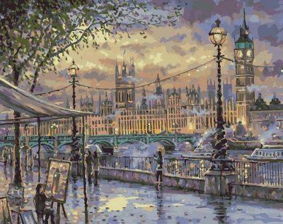 Картина по номерам «Вечерний променад. Лондон»