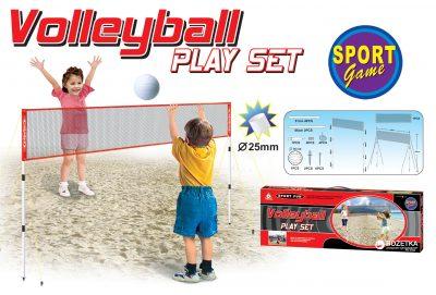 Набор для волейбола Yeefun (мяч, сетка и бадминтон)
