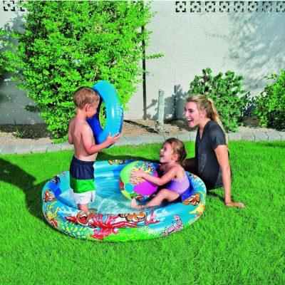 Надувной бассейн Bestway с кругом и мячом