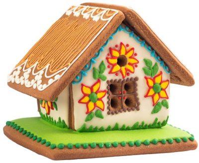 Пряничный домик с подсолнухами