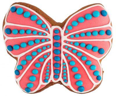Расписной пряник ручной работы - «Бабочка»