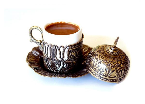 Чашка + блюдце Turcoffee бронза